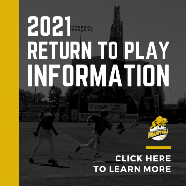 Baseball Manitoba 2021 Return to Play Baseball Promo Image