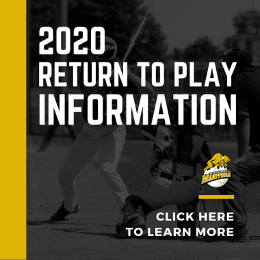 Baseball Manitoba 2020 Return to Play Baseball Promo Image
